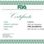 сертификат pre shampoo